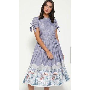 Lindy Bop Purple Snow Dress